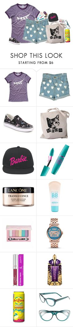 """""""nasa"""" by emmzizleez888 ❤ liked on Polyvore featuring Hank Player, Sophia Webster, Volum, Lancôme, Maybelline, Pop Beauty, FOSSIL, Thierry Mugler, Kate Spade and vintage"""