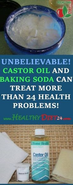 Castor oil and baking soda are among the natural remedies that have long been used because
