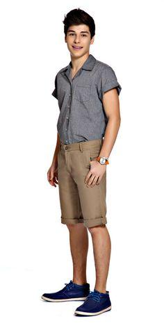 M2A Jeans   Spring Summer 2014   Teen Boy Lookbook   Pimavera Verão 2014 • bermuda; camisa;