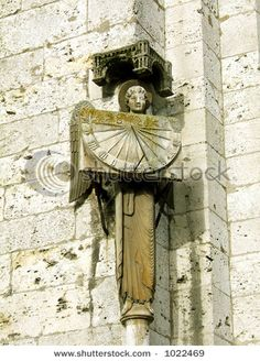 Angel with sundial ~ Chartres cathedral ( France)