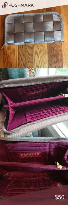 Harvey's seatbelt bags wallet taupe large Large taupe wallet by Harvey's seatbelt bags used for about 2 years but in great condition!! Please see all pictures and ask any questions before purchasing :) smoke free and pet free home. Thanks for looking Harveys seatbelt bags Bags Wallets