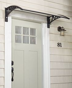 Get protection from snow and rain with this Natural Sunlight Door Canopy over your front door. Its clear design offers protection from the sun while still lett