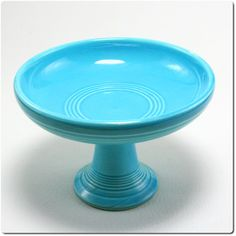Fiesta Ware Turquoise Compote