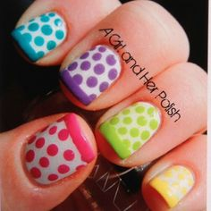 Cute polish idea!!! But would be cute all one color