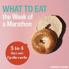 What to eat the week of a marathon.
