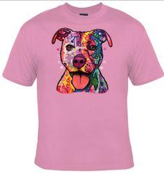 Technocolor Pitbull T-shirt by Animal T-shirt by AnimalTshirtShop