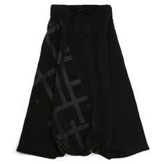 "Muslin Wool Harem Pants in ""Bar"" print - $148.00 (unisex)"