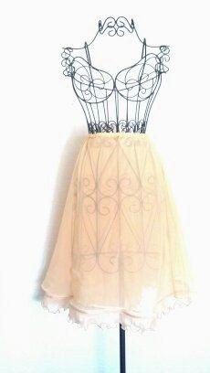 Vintage 60s Skirt // Slip Skirt See Through // by RoryLaRueVintage, $22.00
