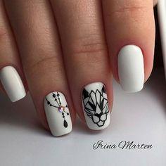 "ИДЕИ ДИЗАЙНА НОГТЕЙ on Instagram: ""Оцениваем от 1 до 10 . Кто может повторить? Хвастаемся своими работами в комментариях 🙋🏼♀️ . Ставим ♥️ и подписываемся @nails_idei_zh .…"" White Nail Designs, Mani Pedi, White Nails, Nailart, Make Up, Beauty, Amazing Nature, Hair Style, Hands"