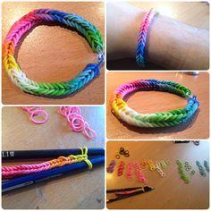 Pulsera de gomitas Rainbow loom fishtail! Handmade!