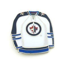 8c866dd642a NHL White Jersey Lapel Pin Travel Souvenirs, Keychains, Hockey Hall Of Fame,  Lapel