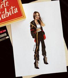 Fashion Design Sketchbook, Fashion Illustration Sketches, Illustration Mode, Fashion Design Drawings, Fashion Sketches, Dope Cartoon Art, Dope Cartoons, Dress Drawing, Drawing Clothes
