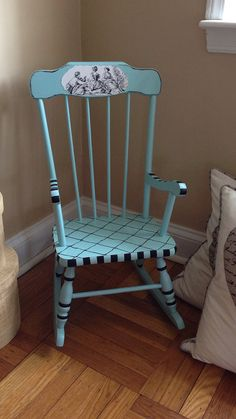 Antique Child Rocking Chair Hand Painted by ColorfulHomeDesigns, $79.00