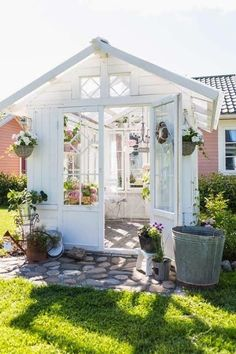 Imaginiative... I love the natural light and the white exterior. Such a amazing garden shed or just a place to hang out!