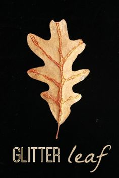 Glitter Leaves :: Simply Beautiful Autumn Leaf Crafts for Kids
