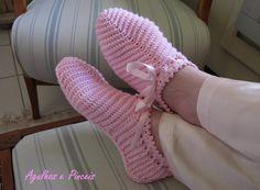 Zapatillas de ganchillo hermosas .. Discusión liveinternet - Servicio de Rusia Diarios Online