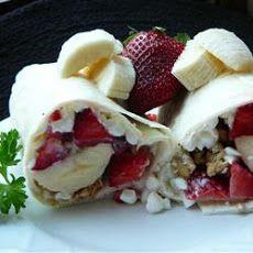 """Good Morning Wrap"" - fruit, cottage cheese, granola"
