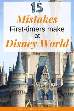 15 Disney World Mistakes NOT to Make – Treasured Family Travels Don't make these Disney World mistakes! Here are tips and tricks for planning your best Disney vacation. Learn the secrets of what experienced people don't do as they plan their Disney trips. Disney World Vacation Planning, Vacation Planner, Walt Disney World Vacations, Disney Resorts, Disney Planning, Trip Planning, Disney World Tipps, Disney World Secrets, Disney World Tips And Tricks