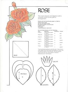 Discover thousands of images about Rose 2 Wafer Paper Flowers, Felt Flowers, Diy Flowers, Fabric Flowers, Paper Flower Patterns, Paper Flower Tutorial, Book Crafts, Paper Crafts, Fleurs Diy