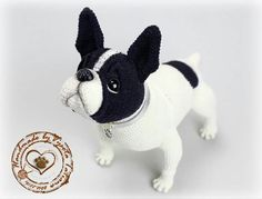 "Photo from album ""Собачки"" on Yandex. Thread Crochet, Crochet Dolls, Amigurumi Patterns, Crochet Patterns, Baby Animals, Cute Animals, Polymer Clay Cat, Tsumtsum, Dog Pattern"