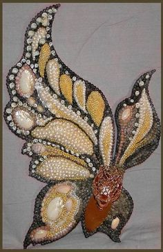 seashell art mosaic