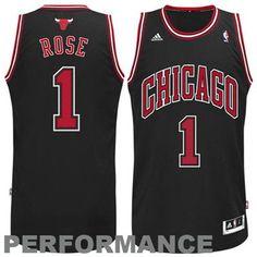 #adidas Derrick Rose #1 Chicago #Bulls Revolution 30 Swingman Performance Jersey - Black