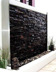 30 creative outdoor backyard water walls28