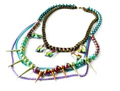 The Jewel Box- USD120   #jewelry #neon #accessories #necklace #colors #crafts #fashion #tribal