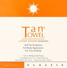 Tan Towel Self Tan Towelette Classic 15 Count *** This is an Amazon Affiliate link. Click on the image for additional details.