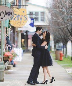 engagement photos, black tulle skirt, romantic photoshoot, midi skirt, Space 46 tulle, lbd, little black dress