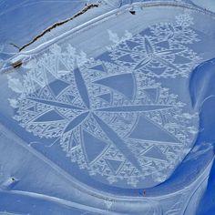 Art in the snow Kunst im Schnee: Beeindruckende Muster in weißer Landschaft
