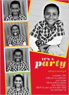 Filmstrip Pictures Boy 5x7 Stationery Card by Yours Truly   Shutterfly