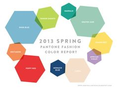 the 2013 Spring color palette from @PANTONE COLOR
