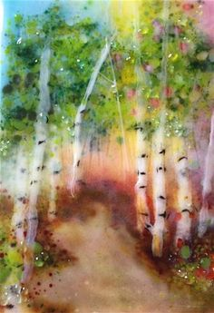 "Daily Paintworks - ""Mystic Forest"" - Original Fine Art for Sale - © Kristen Dukat"