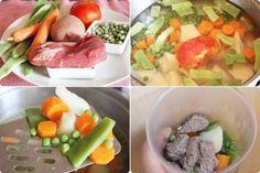Potito de ternera con verduras