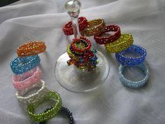 Identificadores de copas + servilleteros mostacillas y piedras