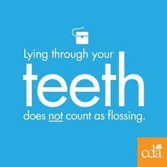 You still need to floss. #dentalhumor #flossing #teeth #dentistry
