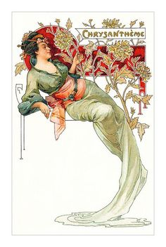 post card artist in 1903 art nouveau