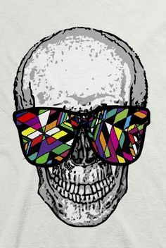 colorful skull via rocknrox