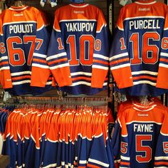 Edmonton Oilers. Newest additions ... new numbers. Awesome!