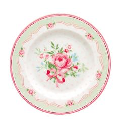 GreenGate Stoneware Small Plate Amelie White D 15 cm | NEW! GreenGate Spring/Summer 2014 | Originated-Shop