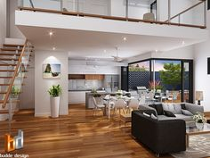 colour floor plan for a building company - Manunda QLD 3d Architectural Rendering, 3d Architectural Visualization, Florida House Plans, Florida Home, Building Companies, Display Homes, Sunshine Coast, Kitchen Design, Floor Plans