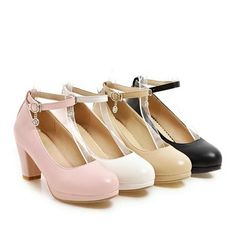 Heel Height: cm Platform Height: - cm Size Note: We send CN size, if your foot is a little wide and fat, we suggest you choose 1 size larger. Size Guide: Euro/CN 34 = US 3 = (Foot Euro/CN 35 = US 4 = (Foot Euro/CN 36 = US 5 = (Foot Euro/CN 37 = US 6 = Chunky Heel Shoes, Strappy Shoes, Ankle Strap Heels, Ankle Straps, Pump Shoes, Shoe Boots, Shoes Heels, Black Sandals, Platform High Heels