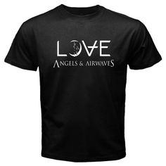 New AVA Angels & Airwaves *LOVE Logo Rock Band Men's Black T-Shirt Size S To 2XL Novelty Cool Tops Men Short Sleeve T Shirt