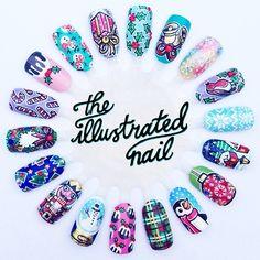 Christmas 2013 nail wheel by The Illustrated Nail