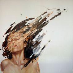 Juxtapoz Magazine - The Paintings of Cesar Biojo, Distortion Art, Art Painting, Art Photography, Cesar Biojo, Art Projects, Oil Painting, Juxtapoz, Art, Portrait Art