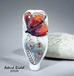 Madam Butterfly Lampwork free shape focal bead von AstridRiede