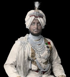 King Of India, Delhi Durbar, Royal Indian, Vintage India, Great King, Patiala, A4 Poster, Indian Jewelry, Indian Fashion
