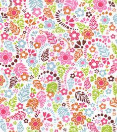 Snuggle Flannel Fabric- Bright Floral : flannel fabric : fabric : Shop | Joann.com