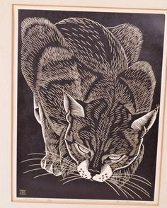 cat linocut - Google Search